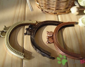 Half Round Mickey Mouse Purse Frame - 8.5cm / 3.3 inch (PF85-9) - Select a Color