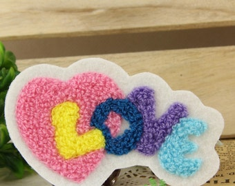 Sew on Fabric Patch - Sweet Heart and Love - FP18