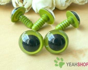 20mm Grass Green Safety Eyes / Plastic Eyes - 2 Pairs