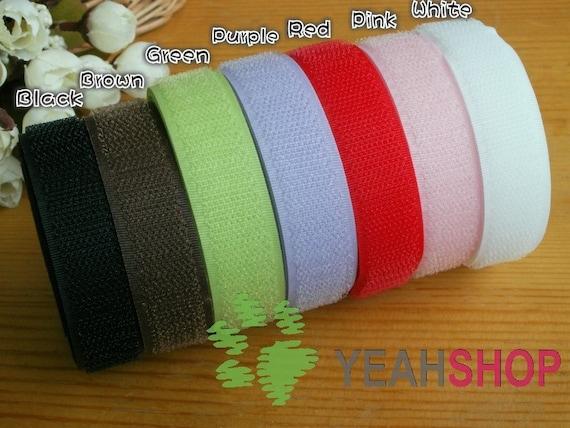 20mm Sew on Velcro Hook & Loop Tape - 7 Colors - 1 Meter Each Color