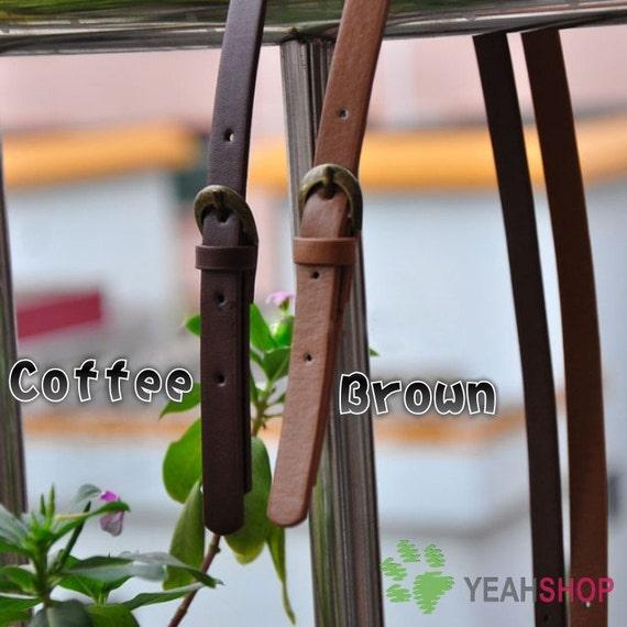 Imitation Leather Bag Handle - Coffee - 69cm / 27 inch - HD28