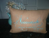 Namaste embroidered pillow