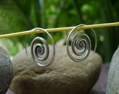 Silver Spiral Earrings - The Spiral Sunshine Bloom(1)
