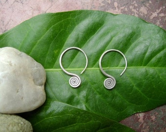 Silver Spiral Earrings - The Simply of Life (1)