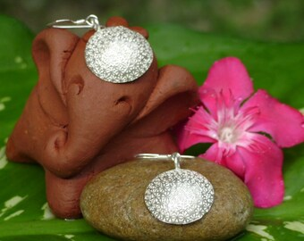 Handmade Silver Earrings - The Flowers of Life