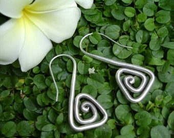 Silver Spiral Earrings - The Spiral Triangle