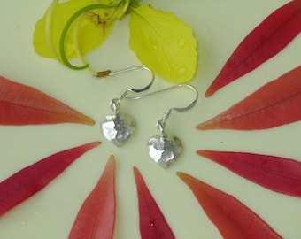 Silver Earrings - The Heart Disc(1)