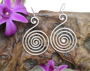 Silver Spiral Earrings - The Way of Life (5)