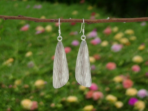Tribal Silver Earrings - The Engraved Wings
