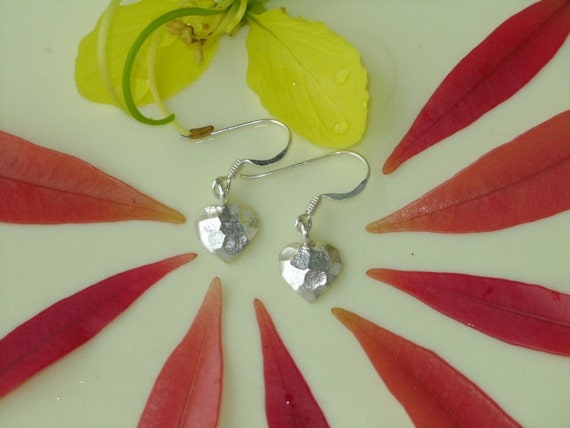 Silver Earrings - The Heart Disc(1)