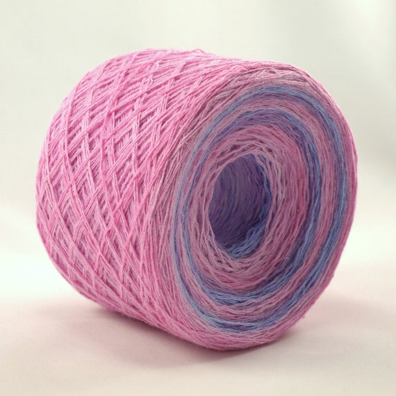 Lace Weight Yarn : Items similar to lace weight hand painted cotton yarn, color changing ...