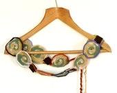 Ombre hip belt crochet - all sizes, wooden ellements, cotton