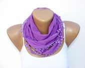 purple scarf ,FREE SHIPPING ,soft , usefull , bandanna , cotton fabric scarf , by SENO