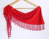 Was 15 NOW 12,75red  pashmina scarf,for her,spring trends,soft,with lace,neckwarmer,gift ideas,mothers day gift,for woman