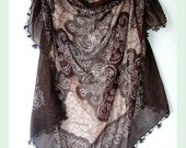 FREE SHIPPING summer fashion ,turkish cotton scarf,chocolate brown,for women,turkish yemeni fabric,traditional Anatolian design,gift ideas