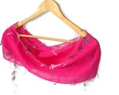 Was 15 NOW 12,75pink scarf,Cotton fabric,soft,Ready to Shipping,for her ,fashion gifts,bandana ,SOFT scarf,by Seno