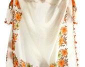 Orange  Scarf Original Anatolian Yemeni scarf ,100 cotton Scarf , floral shawl , new scarf , SENO