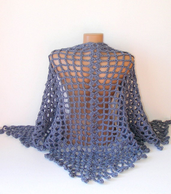 hand crocheted women shawl, 2013 crochet trend, fashion women accessory, warm, stole, wrap