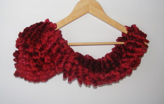 women knitted scarf, ruffled scarf, salsa scarves, flamenco scarf, for woman, scarf trends, fall fashion, gift ideas, for her, summer SALE