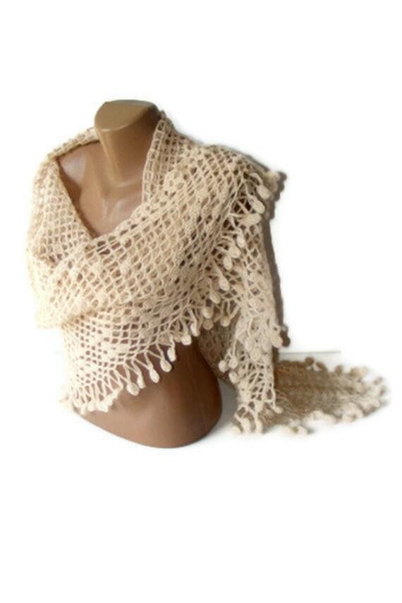 shawl ivory,Ready To Shipping ,stylish, soft ,warm,fashion accessories for women in Winter ,new trend women shawl,by Seno