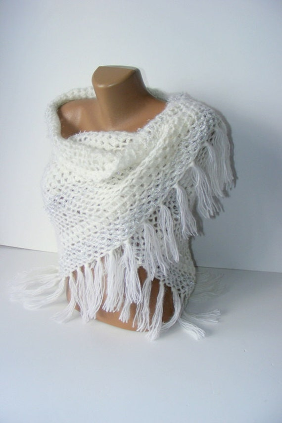 white scarf,winter trends,white shawl,Ready to Shipping,soft,warm,best yarn mohair shawl,for her,by Seno
