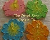 Hibiscus Flower Cookies 4 dozen