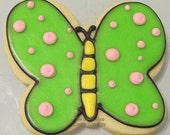 Dotted Butterfly cookies 3 dozen