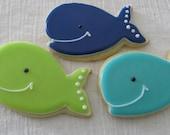 Whale cookies 2 dozen