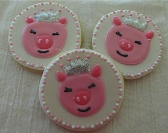 Piggy Princess Cookies 2 dozen
