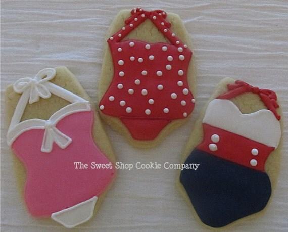 Retro Swimsuit Cookies 2 dozen
