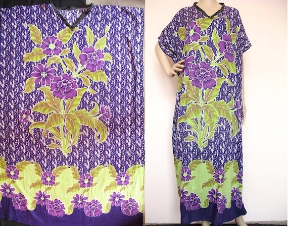 Plus Size Long Tunic Batik Kaftan Caftan Plus Size Maternity Dress S M L XL 2X 3X