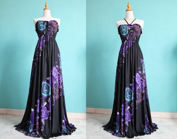 50% SALES Black Strapless/ Halter Women Dress Evening Dress Sundress Long Maxi Dress Bridesmaid Dress XS S M