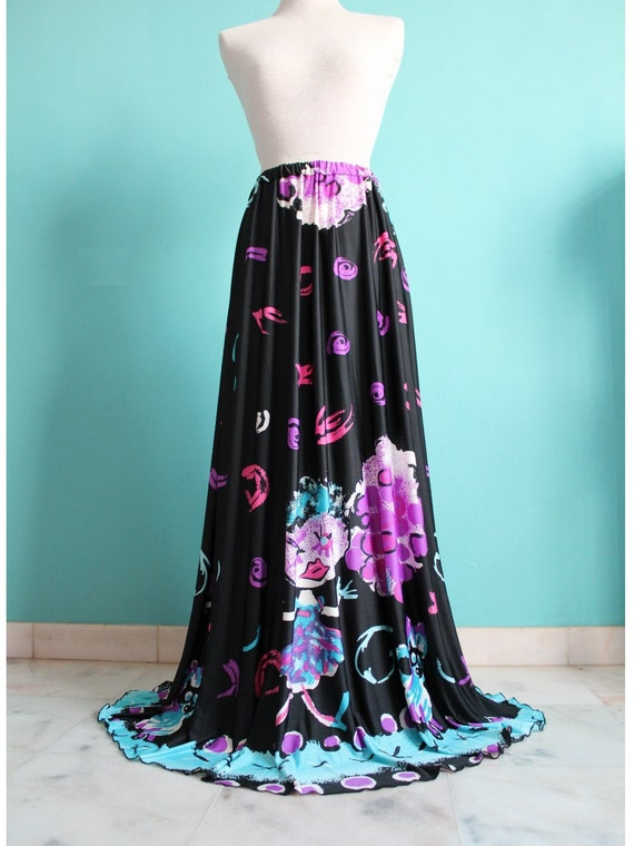 50% SALES Black Maxi Skirt Black Women Extra Long Skirt Summer
