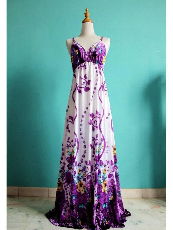 Sexy Long Maxi Dress Evening Dress Summer Women Sundress Purple Bridesmaid Dress
