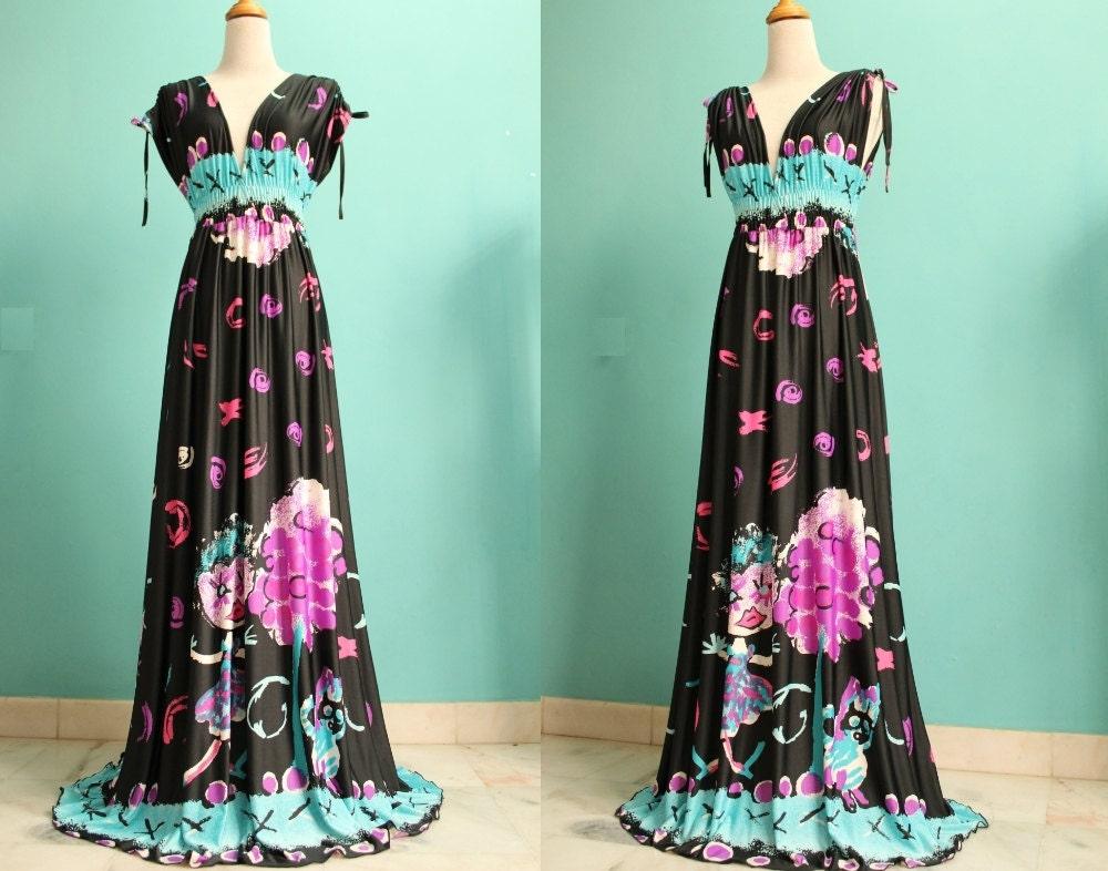 Long Maxi Dress Black Dress Two Way Wear Evening Long