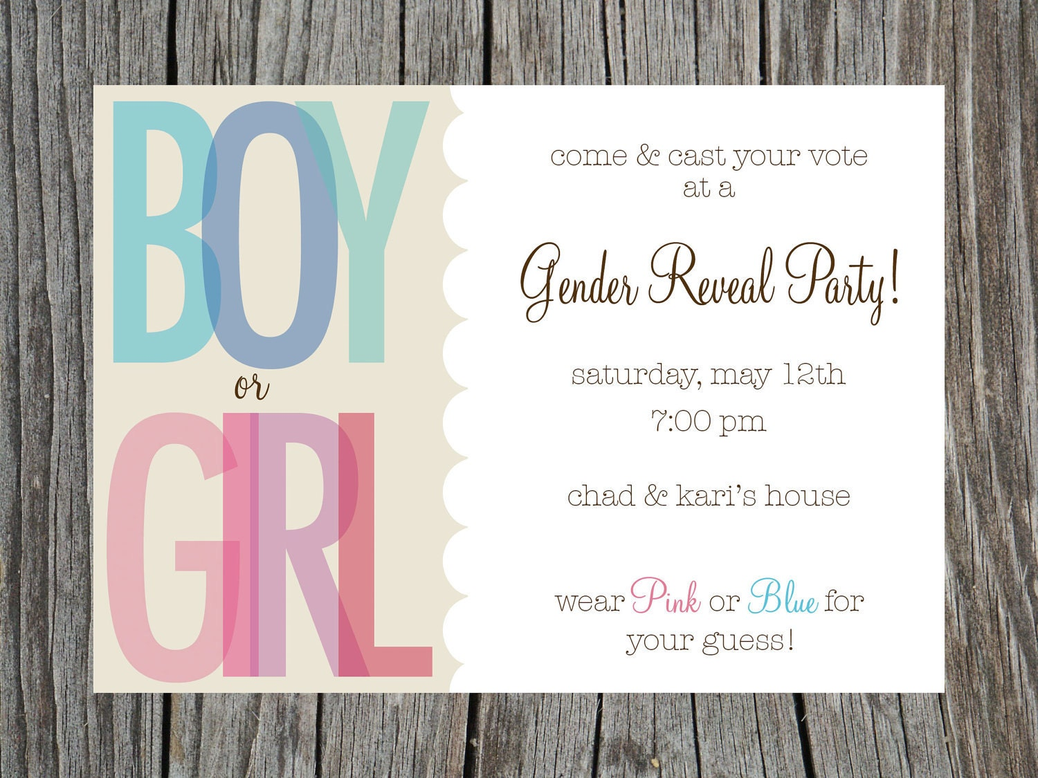 It's just an image of Sassy Free Printable Gender Reveal Party Invitations