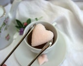 Soft Blush Pink Heart Shaped Sugar Cubes  6 Dozen
