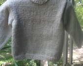 Toddler Eco Friendly Hand Knitted Sweater Recycled Yarn EtsyKids Team Ready to Ship RTS