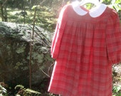 toddler plaid salmon colored dress 3T EtsyKids Team Back to School