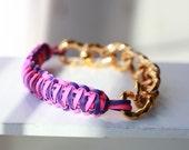 GUMMY Bangle -Craft Lace Gummy Bangle -Chain link Bracelets -Cobra Stich Gummy Bracelet