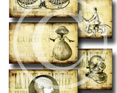 Steampunk Oddities - Printable Hang Tags or Journaling Cards