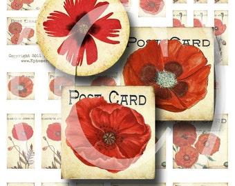 Poppy Pendants Sampler - Digital Collage Sheet