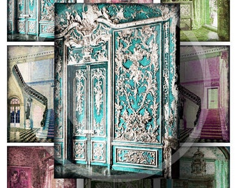Vintage Interiors ATC Backgrounds - Digital Collage Sheet