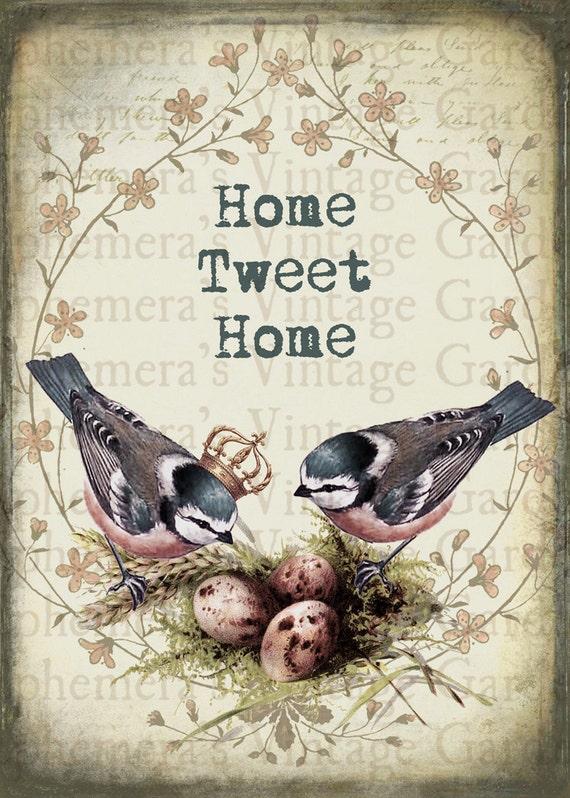 Items Similar To Printable Wall Art Home Tweet Home