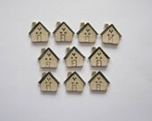 House Buttons - Handcrafted Stoneware - Made in Maine by Caryn Burwood of Concepts In Clay