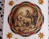 "Supplies - On Sale - Clearance - E-Z Rub -On Transfers ""The Nativity Glitter"" - New in Package"