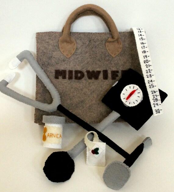 Felt Midwife Playset