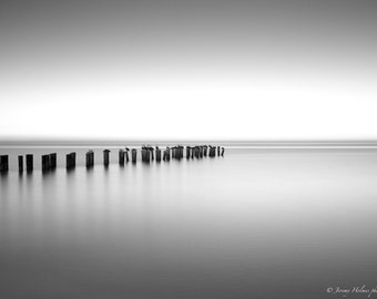 Black and White Fine Art Print of an Abandon pier in naples, Florida