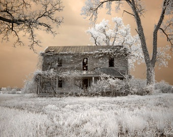 Old abandon farm house fine art photography print.
