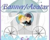 Wedding Couple Banner Set